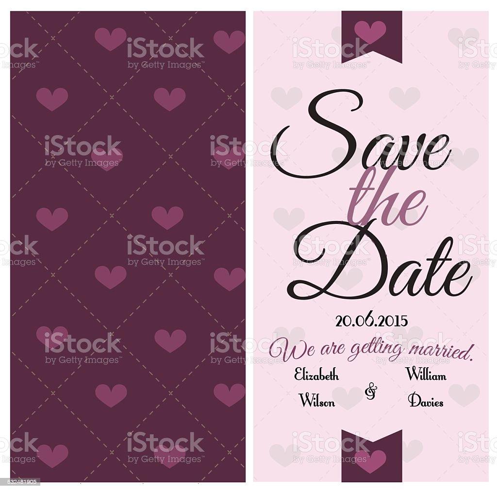 Wedding invitation. vector art illustration