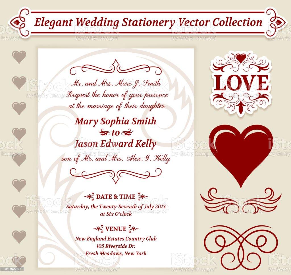 Wedding Invitation Vintage Design royalty-free stock vector art