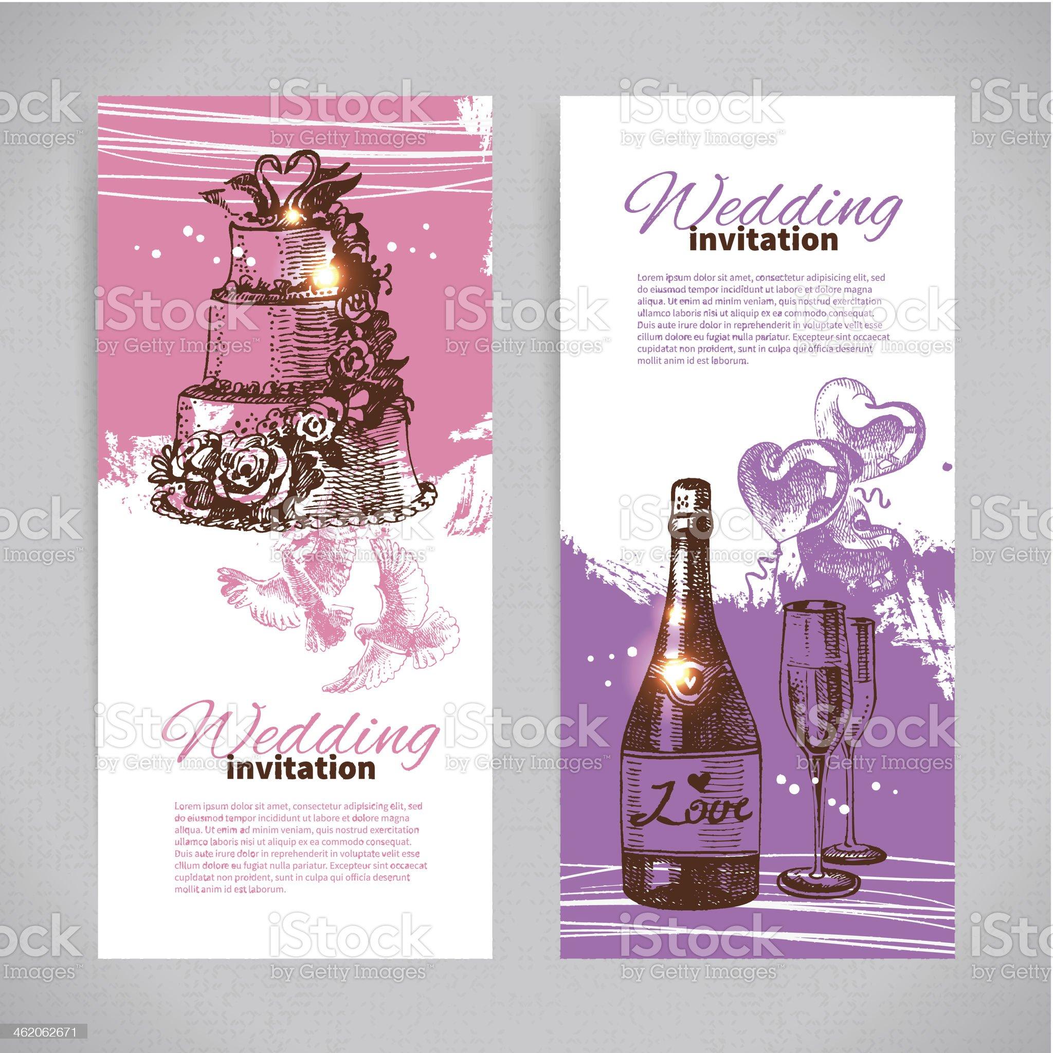 Wedding invitations royalty-free stock vector art