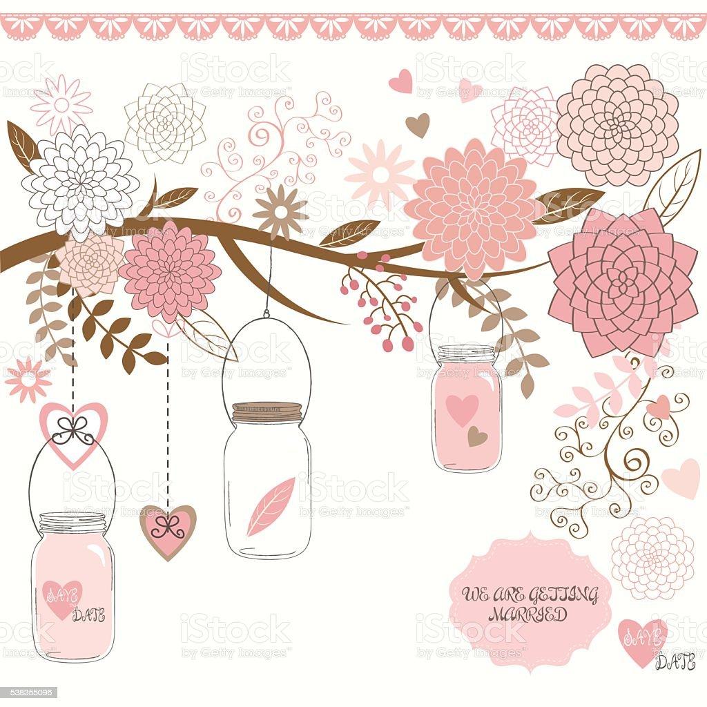 Wedding Jar vector art illustration