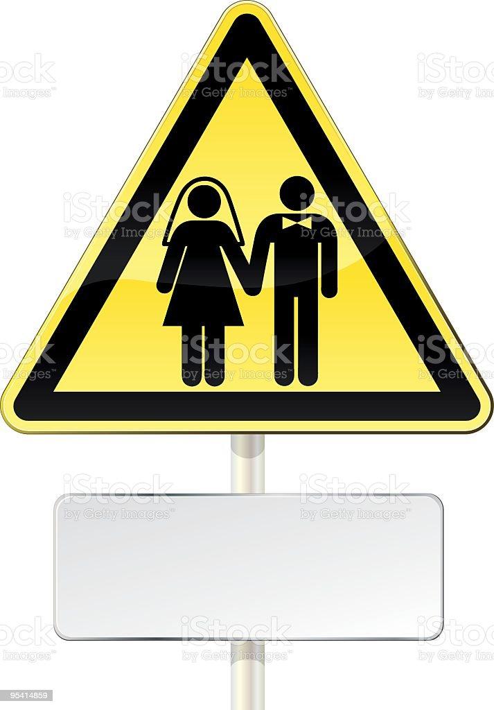 Wedding or not? royalty-free stock vector art