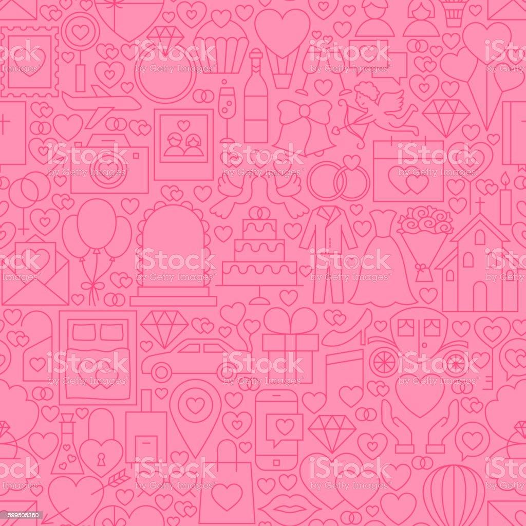Wedding Pink Line Tile Pattern vector art illustration