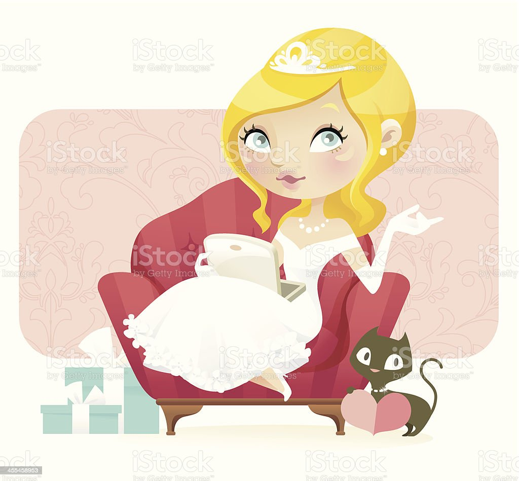 Wedding Planner (Blonde) royalty-free stock vector art