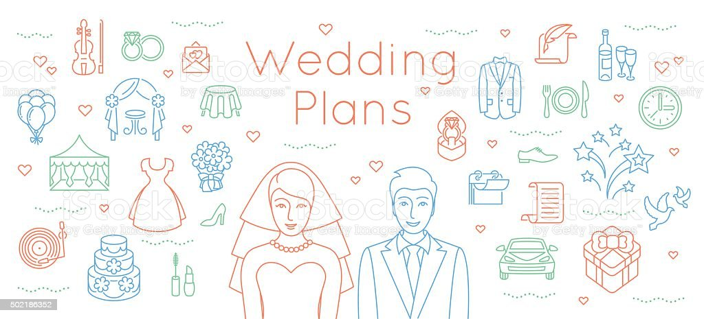 Wedding Planning Clip Art, Vector Images & Illustrations - Istock