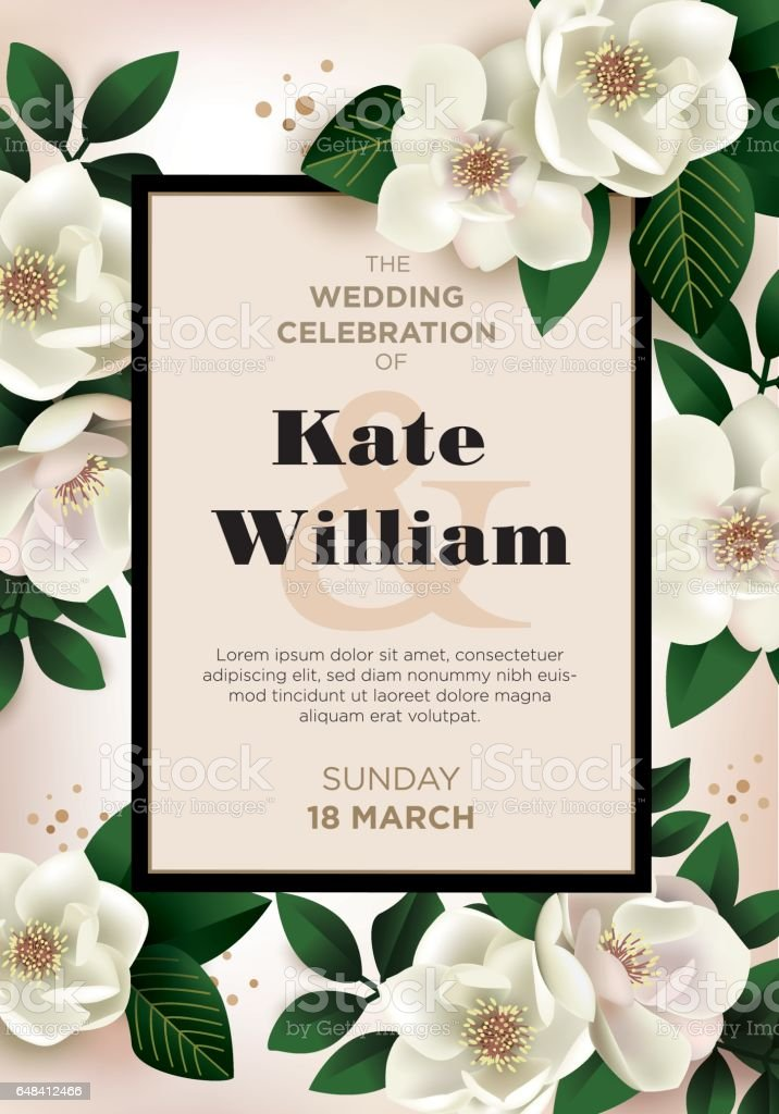 Wedding premium invitation to the feast. vector art illustration