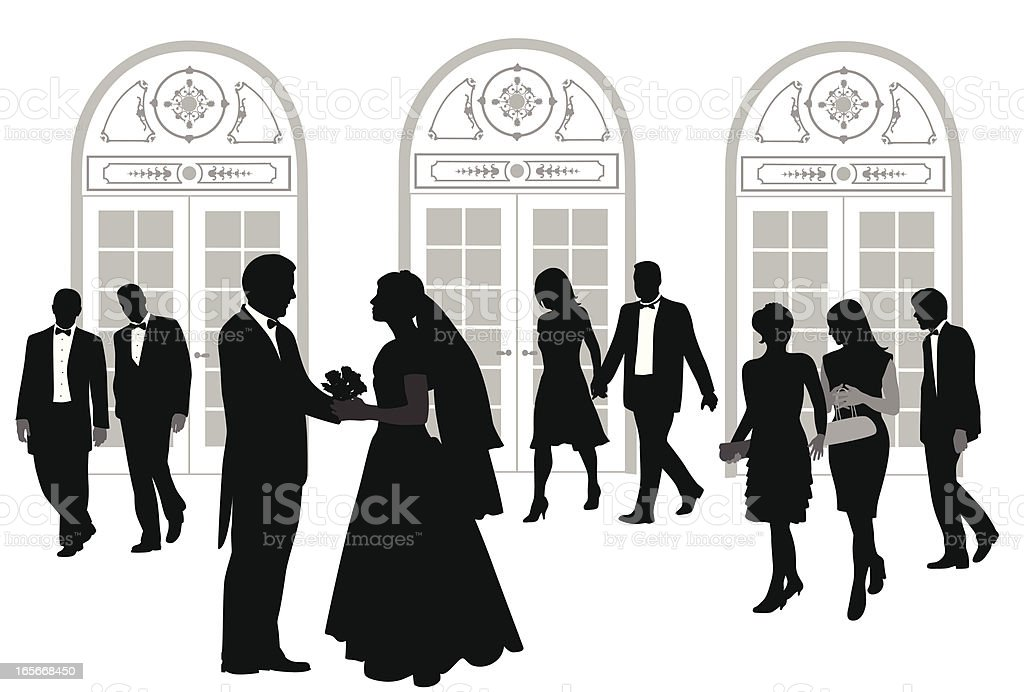 Wedding Reception Vector Silhouette vector art illustration