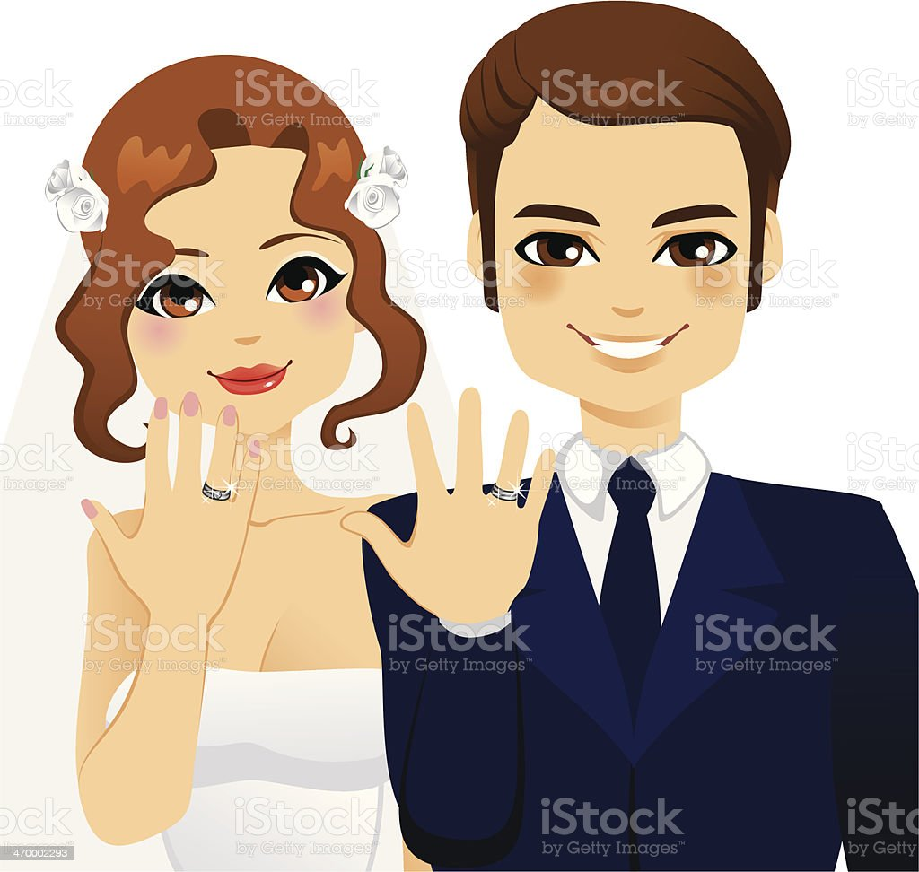 Wedding Ring Couple royalty-free stock vector art
