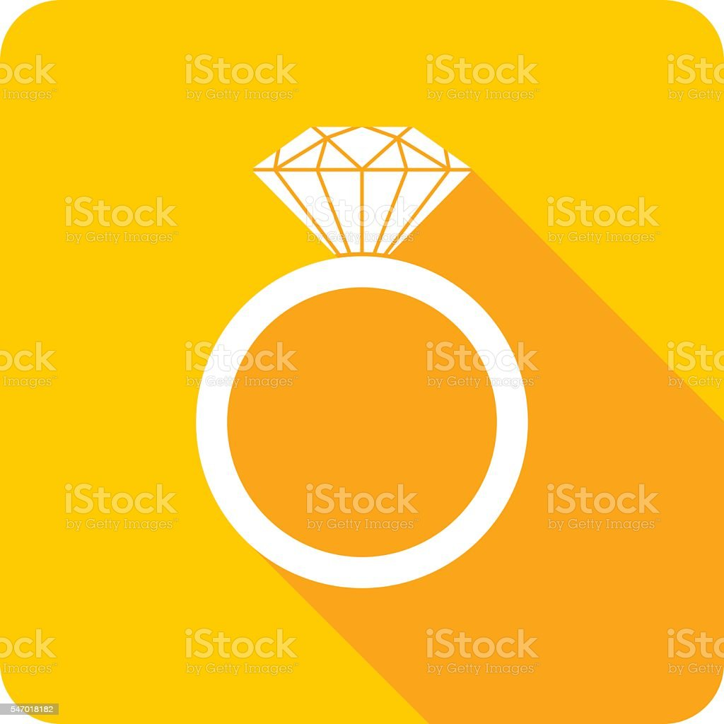 Wedding Ring Icon Silhouette vector art illustration
