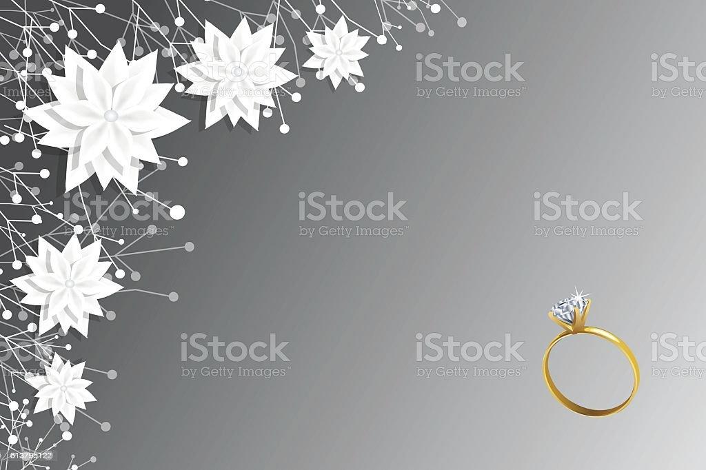 Wedding Ring vector art illustration