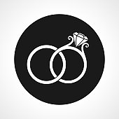Wedding Rings Circle Icon