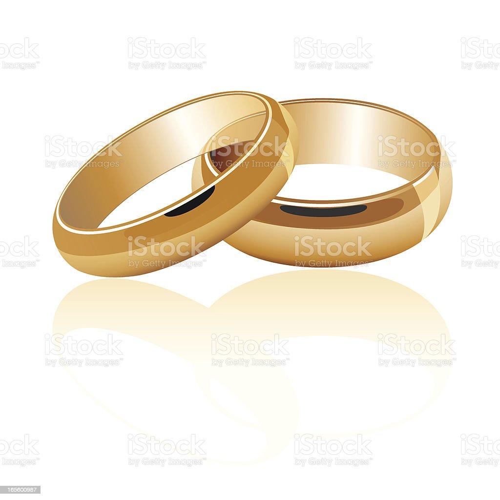 Wedding Rings Gold royalty-free stock vector art