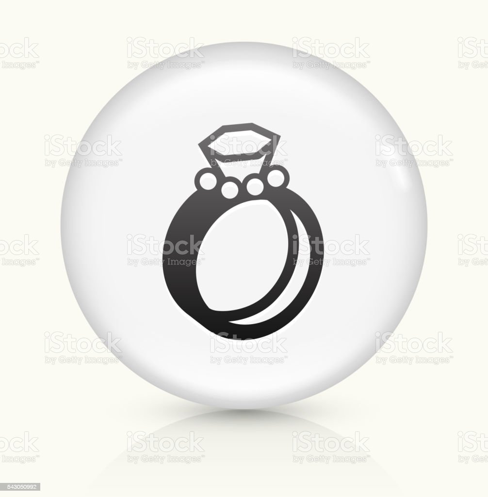 Wedding Rings icon on white round vector button vector art illustration