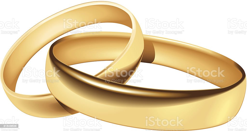 Wedding rings vector art illustration