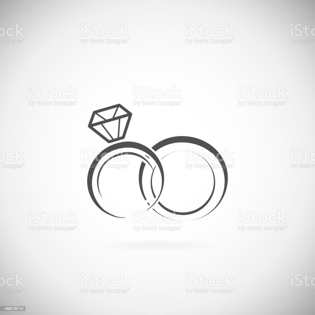 Wedding rings vector vector art illustration