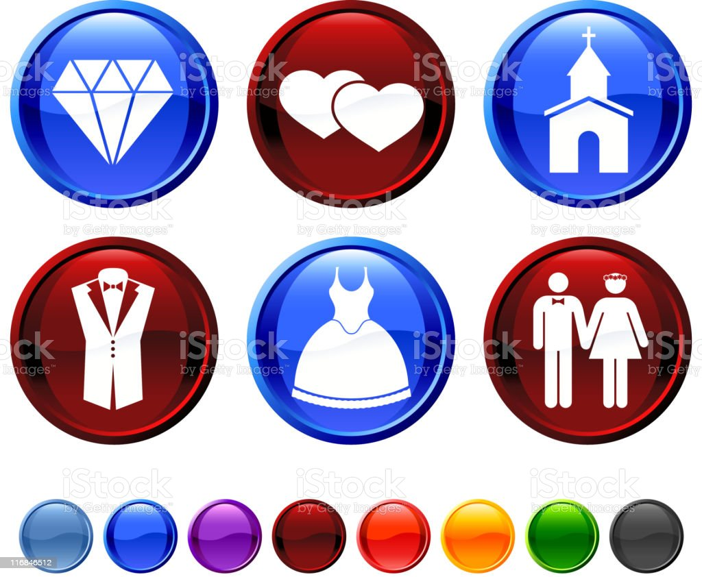 wedding royalty free vector icon set royalty-free stock vector art