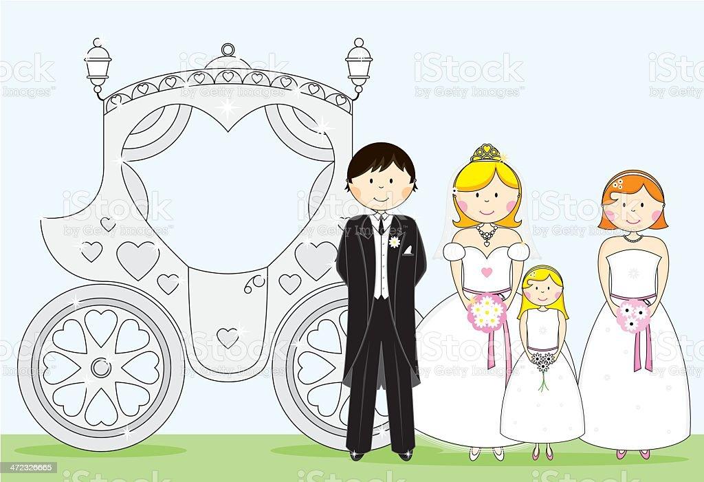 Wedding Scene royalty-free stock vector art