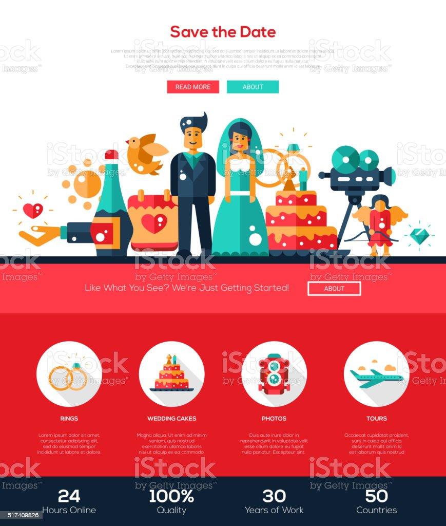 Design elements banner - Wedding Services Website Header Banner With Webdesign Elements Royalty Free Stock Vector Art