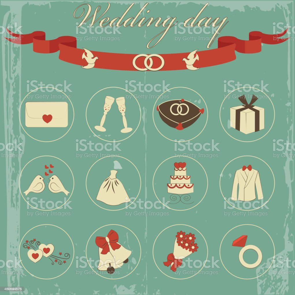 wedding set royalty-free stock vector art