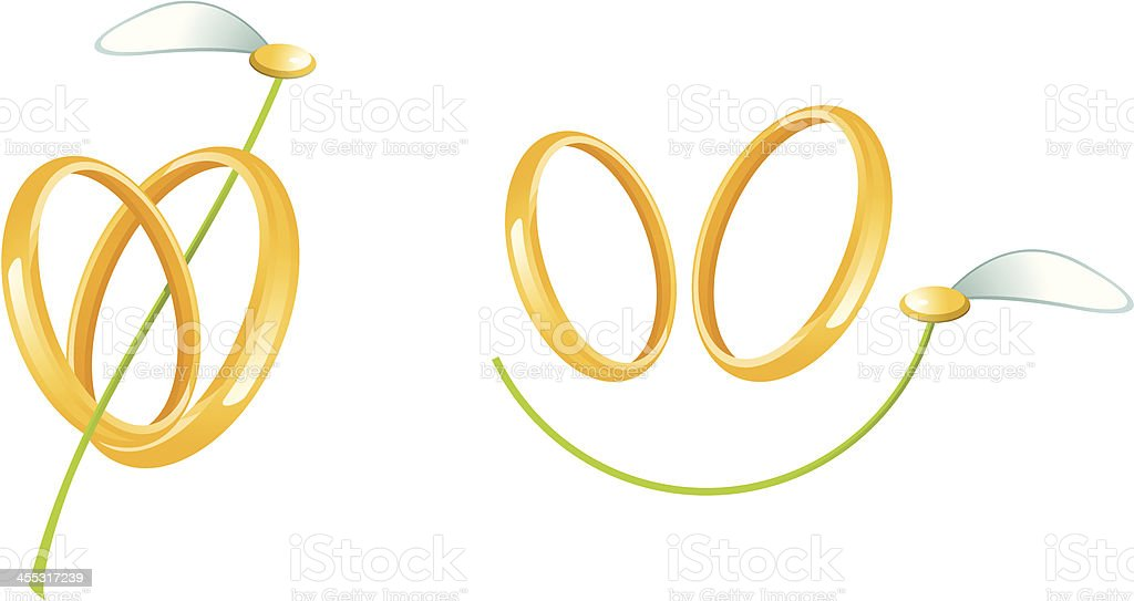Wedding signs royalty-free stock vector art