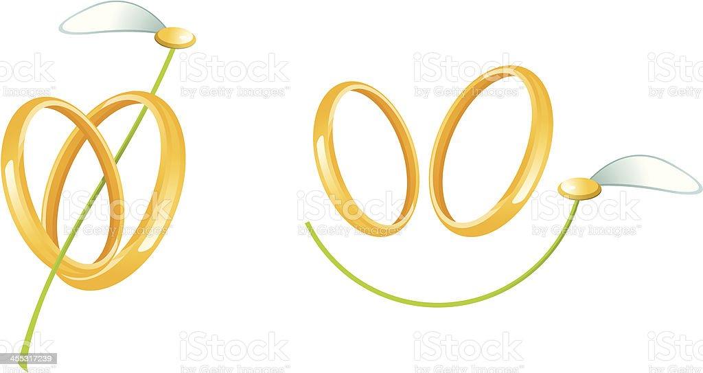 Wedding signs vector art illustration
