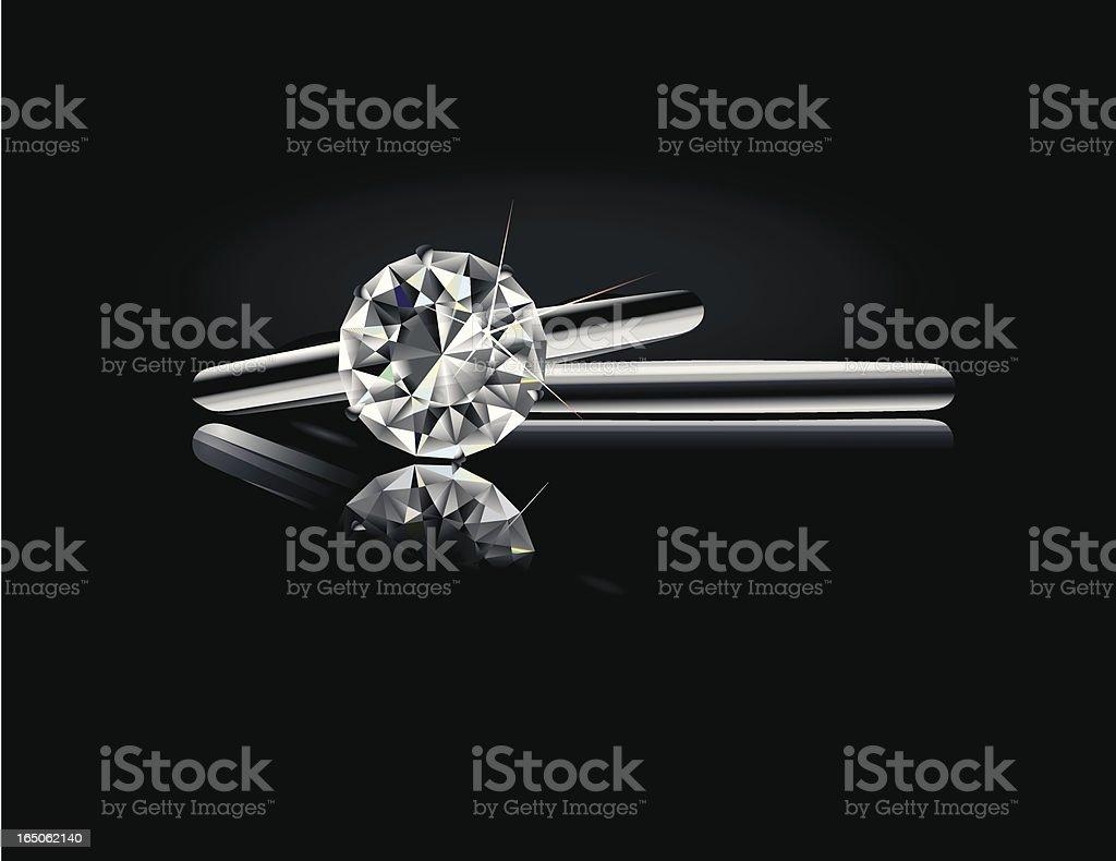 Wedding Solitaire Set vector art illustration