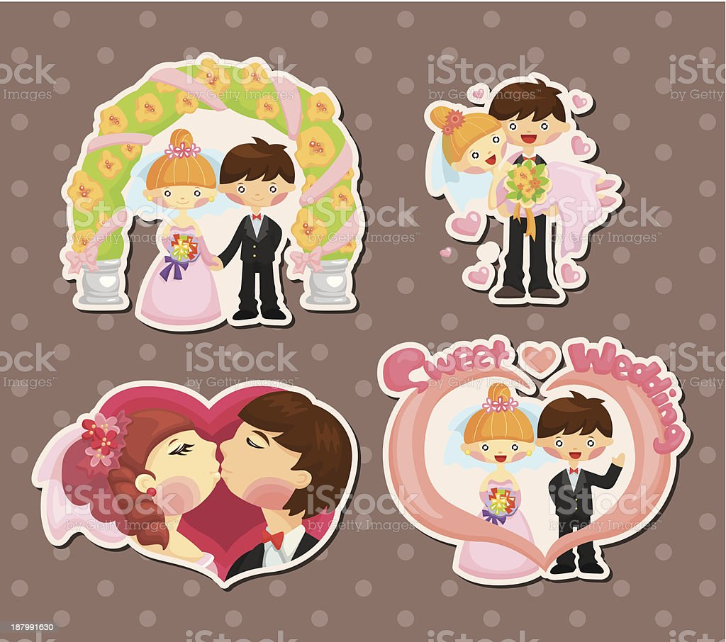 Wedding stickers royalty-free stock vector art