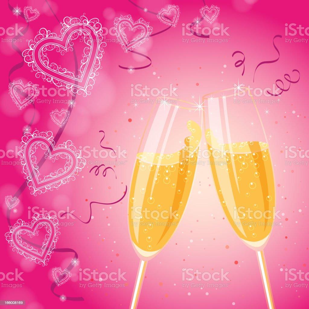 Wedding Toast royalty-free stock vector art