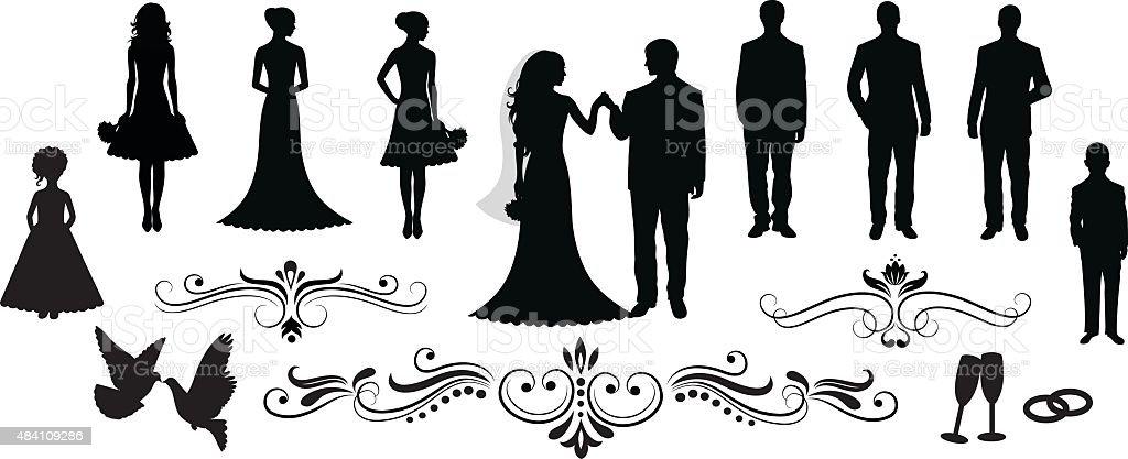 Wedding. vector art illustration