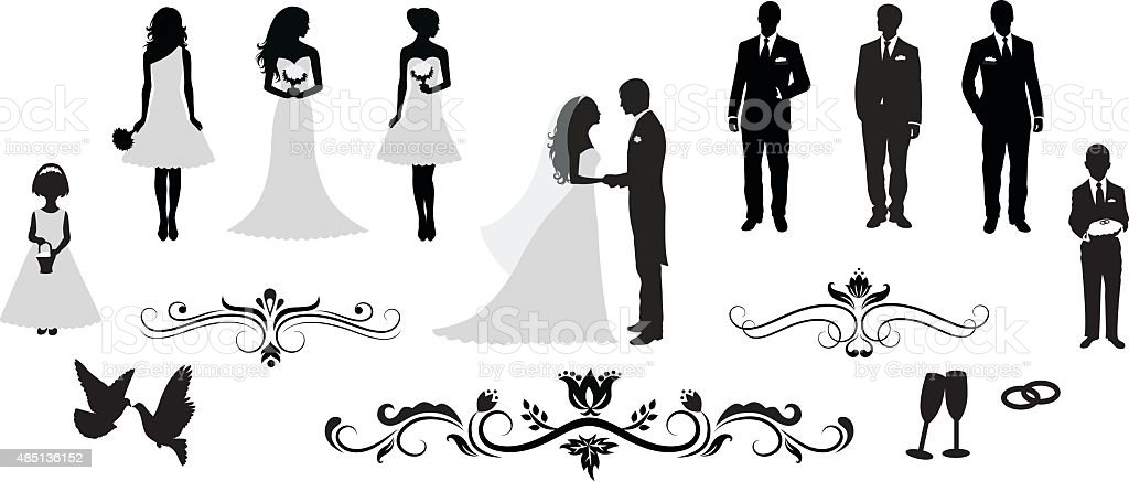 Wedding. vector art illustration