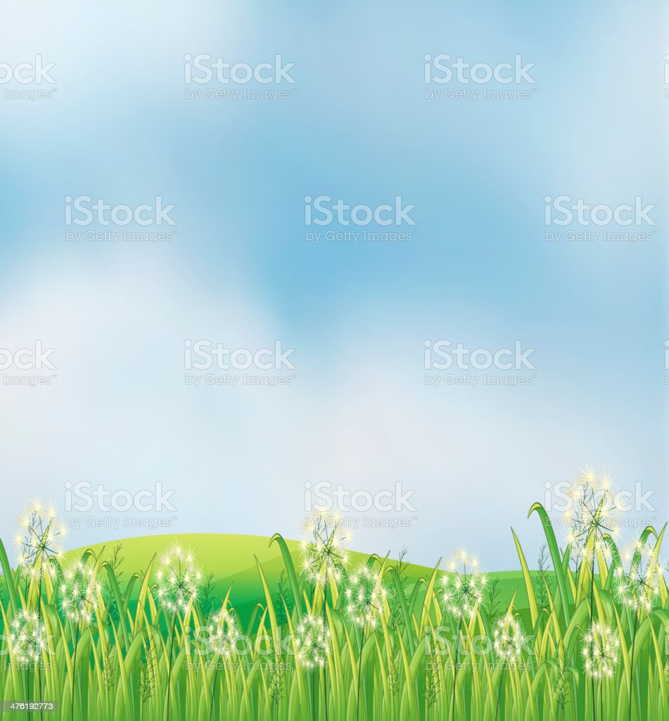 Weeds at the hilltop royalty-free stock vector art