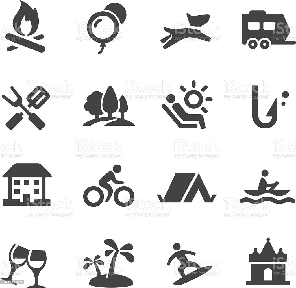 Weekend and Vacation Icons - Acme Series vector art illustration