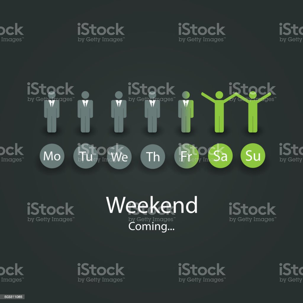 Weekend's Coming Soon Illustration vector art illustration