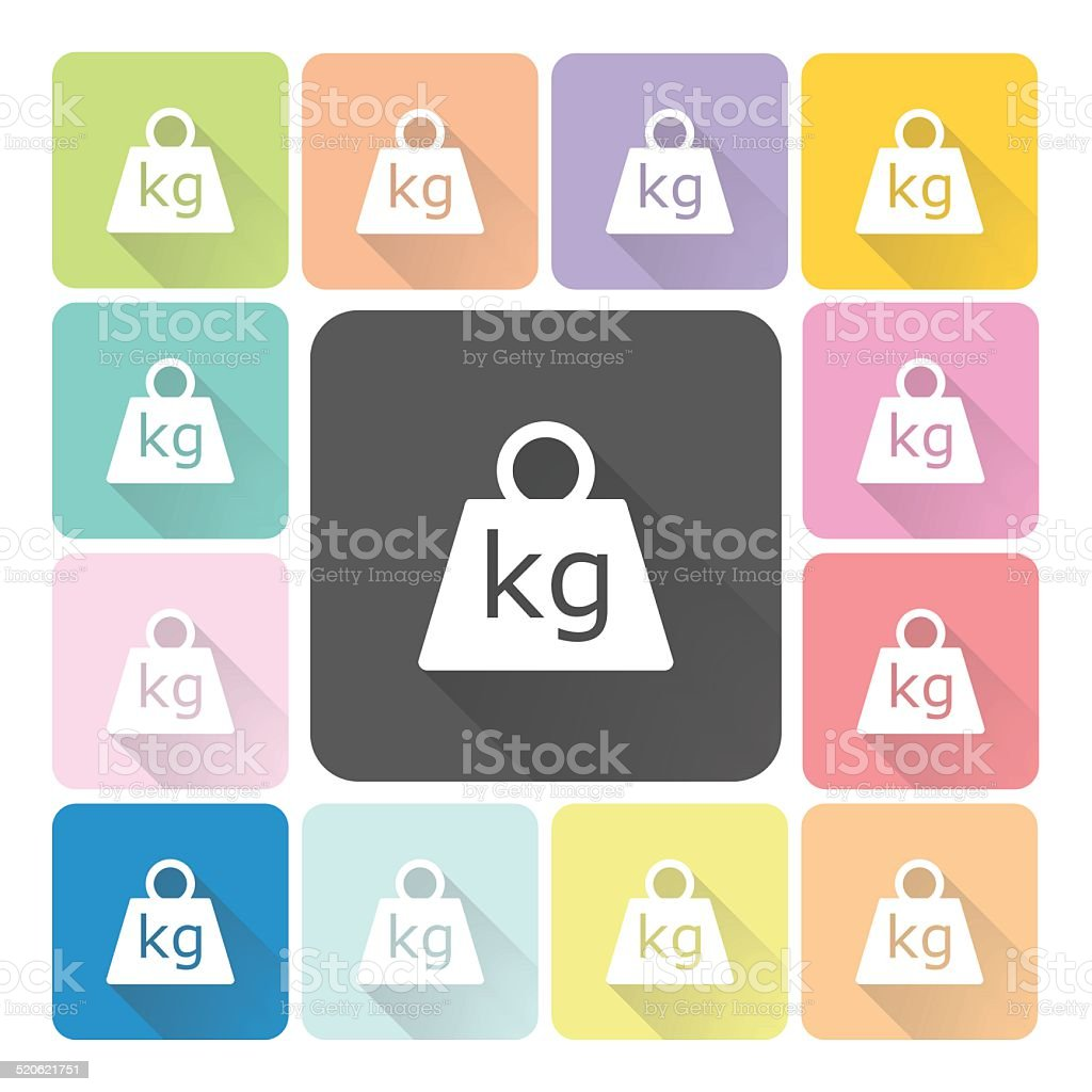 Weight Icon color set vector illustration vector art illustration