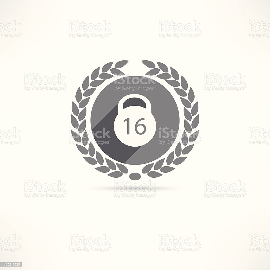 weight kg icon vector art illustration