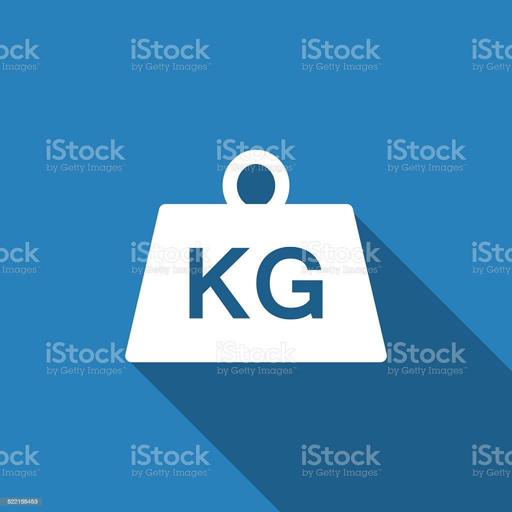 weight kilogram icon vector art illustration