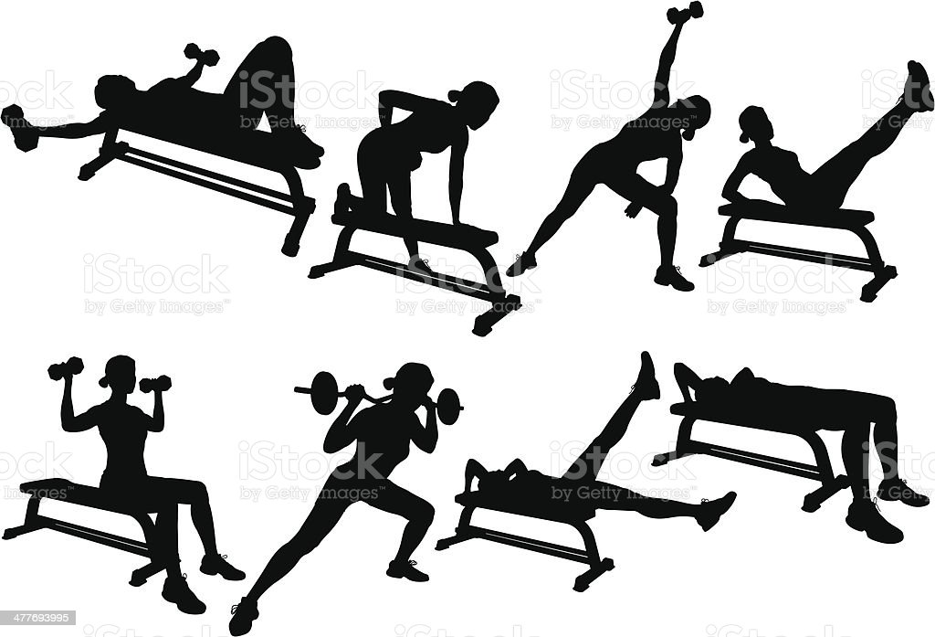 Weight Lifting Silhouette royalty-free stock vector art