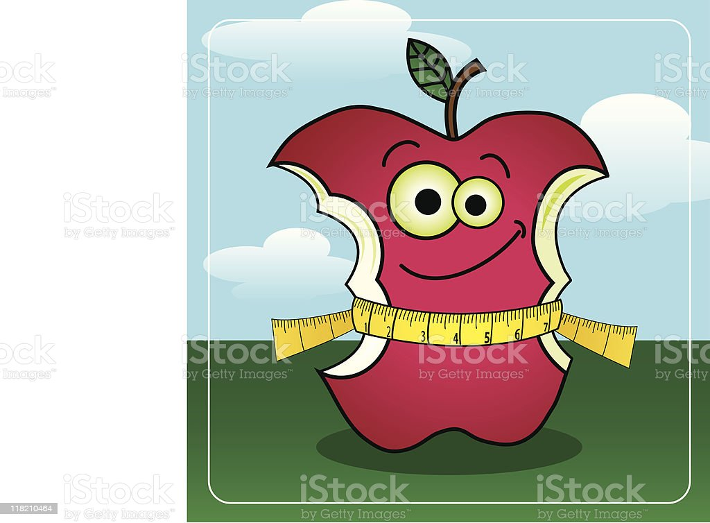 Weight Loss Apple royalty-free stock vector art
