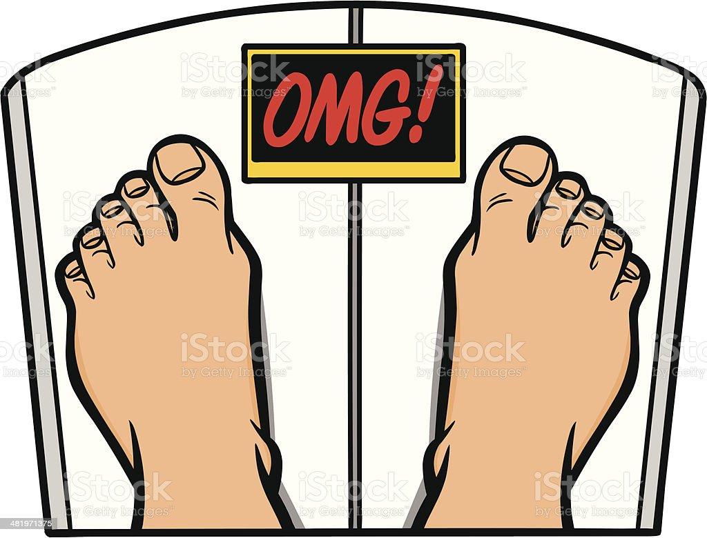Weight Loss OMG royalty-free stock vector art