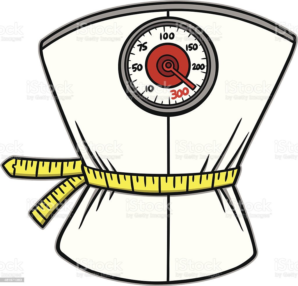 Weight Loss Scales vector art illustration