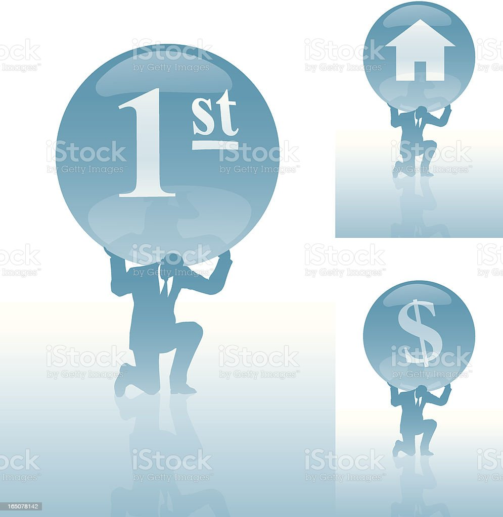Weight of success. royalty-free stock vector art