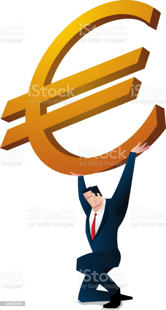 Weight of the euro royalty-free stock vector art