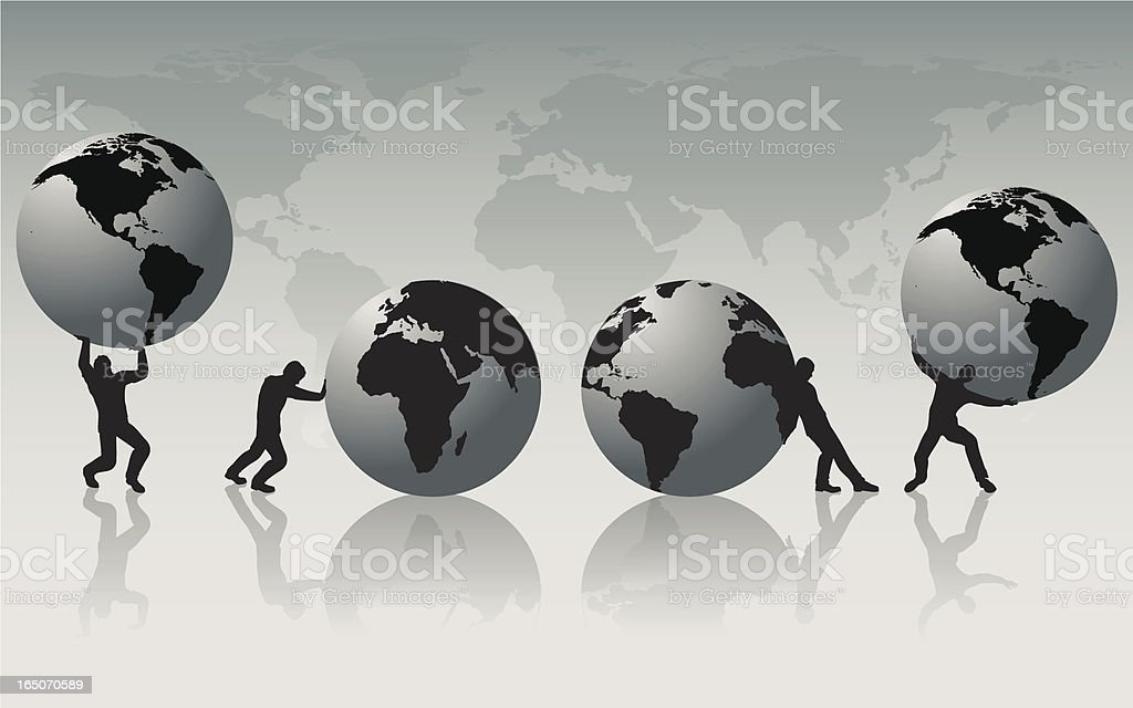 Weight of the world. royalty-free stock vector art