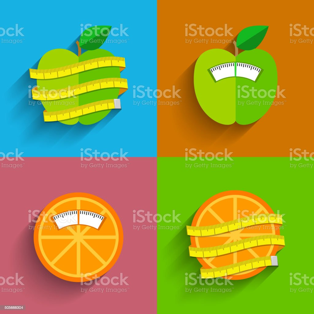 Weight scale concept vector art illustration