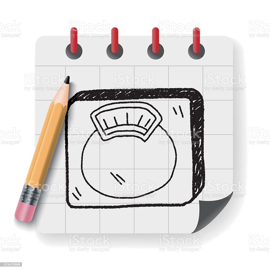weight scale doodle vector art illustration