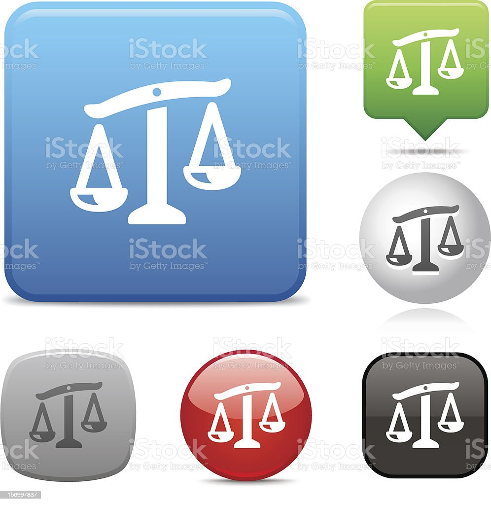 Weight Scale icon royalty-free stock vector art