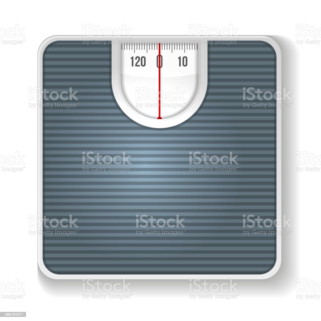 Weight Scale. Illustration on white background royalty-free stock vector art
