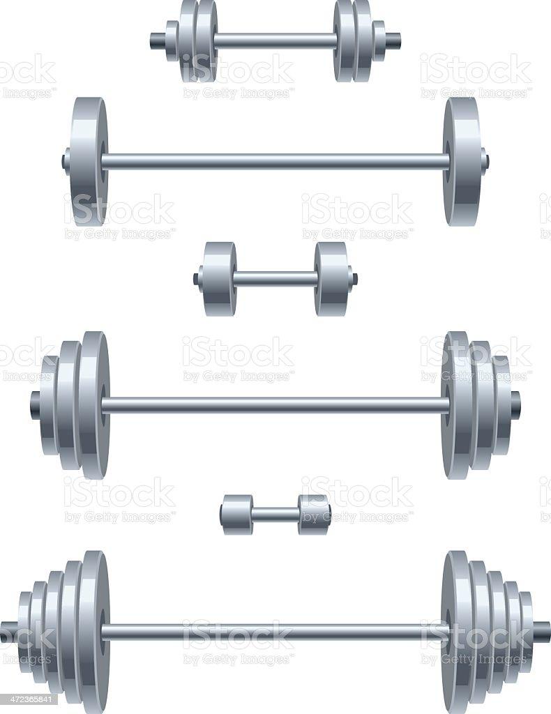 Weight set vector art illustration