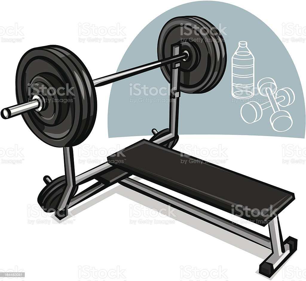 weight training simulator royalty-free stock vector art