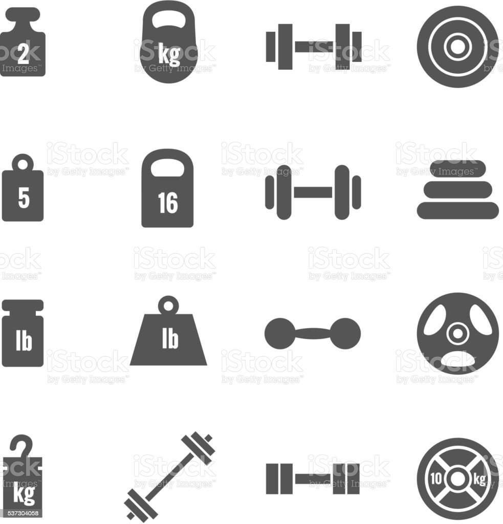 Weight vector icons vector art illustration