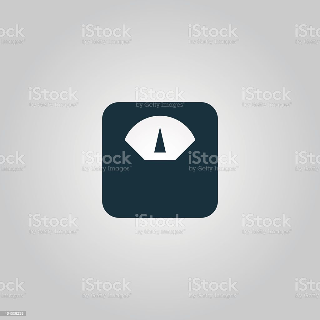 weighting apparatus icon vector art illustration